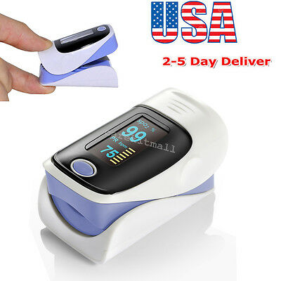 Temperature OLED Blood Oxygen Finger Pulse Oximeter Oxymeter SPO2 PR for Elder