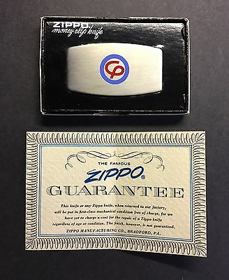 Vintage Consumers Power Zippo Money Clip Knife New in Box Michigan Electric Co