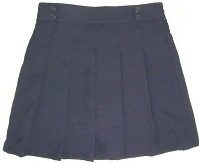 NWT Dockers Girl's Size 14 Pleated Scooter Skirt Regular 14R School Uniform Navy