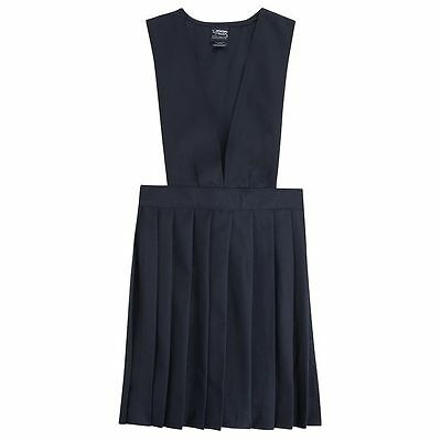 NWT French Toast Girl's Size 20 School Uniform Long Pleated Jumper Dress Navy