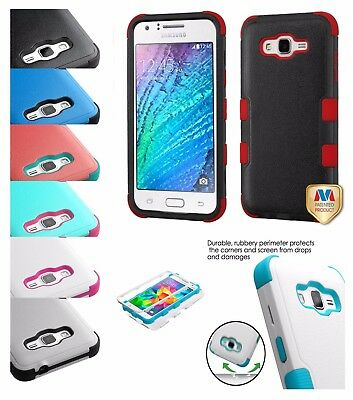 For Samsung GALAXY J7 V Sky 2017 Hybrid Shockproof Impact Rugged Hard Case Cover