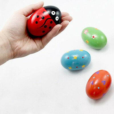 Instrument Wooden Egg Music Shaker Toys Rattle Maracas Percussion