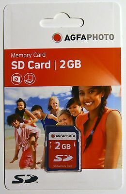 Agfa SD 2Gb Memory Card NEW for cameras that show 'CARD ERROR' on SDHC cards