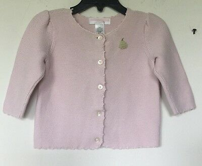 Janie And Jack Baby Girl's Button Down Cardigan SZ 0-3 Months