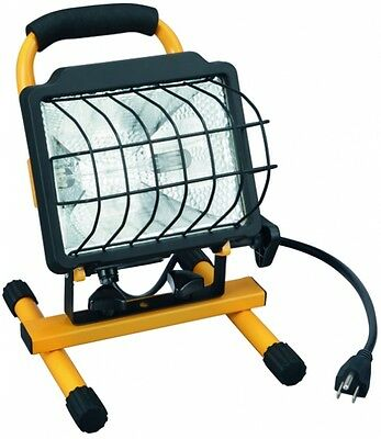 Utilitech 1-Light Standard Tempered Glass 500-Watt Halogen Portable Work Light