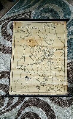 1934 WoodStock, Vermont  Road and Summer Homes  Map