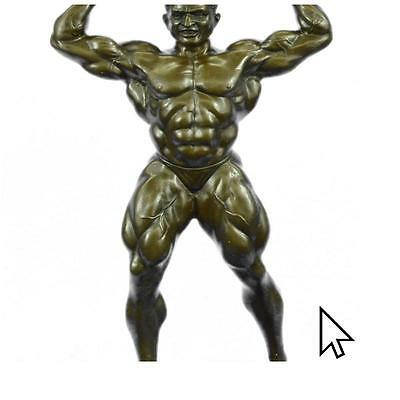 Original Art Deco Large Muscle Man Bronze Sculpture Figurine Home Deco