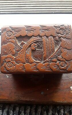 Antique Handcarved Chinese Box