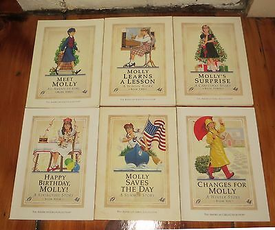 Molly American Girl 1944 Set of 6 Pb Books 1-6 original 1st ed Pleasant Company