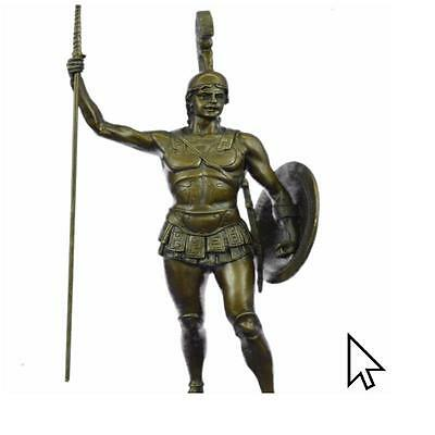 Handcrafted Bronze Figurine The Greek Hero Achilles Holding A Spear Figure