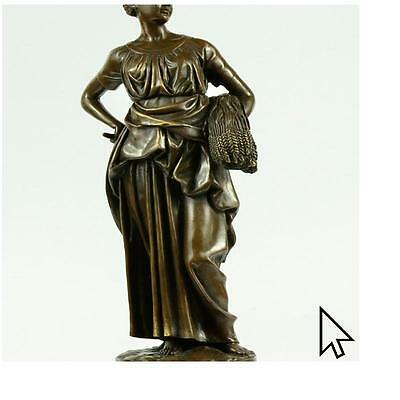 Greek Goddess Agriculture Bronze Sculpture Art Deco Hot Cast Marble Figurine  E