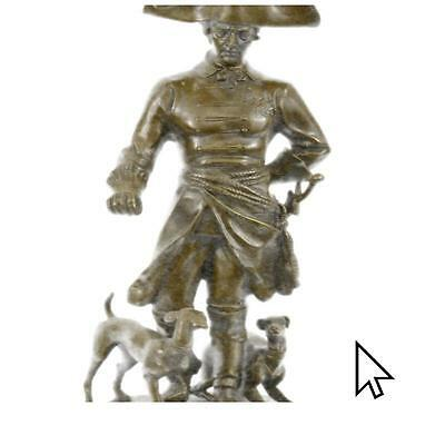 Frederick Great Warrior King Two Dogs Bronze Sculpture Marble Statue Gift