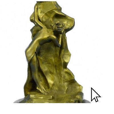 Handcrafted Sexy Temptress Museum Quality Bronze Sculpture Figure Figurine