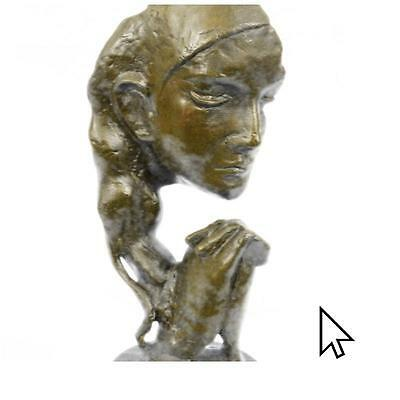 Hot Cast Bronze Praying Face Sculpture Statue Abstract Modern Art Deco Cubism