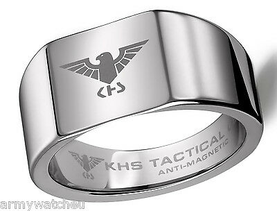 KHS Tactical Gear Tungsten Carbide Ring Eagle German Special Forces Size 16-24