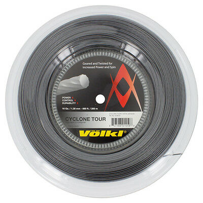 Volkl Cyclone Tour Tennis String 1.30Mm 16G - 200M Reel - Anthracite - Rrp £120