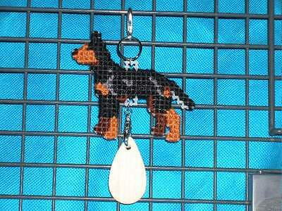 MANCHESTER TERRIER STANDARD Dog crate tag or hang anywhere pet art ornament