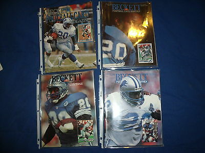 Lot of 4 Barry Sanders 1990s Beckett Football Card Monthly Magazines (Lot 2)