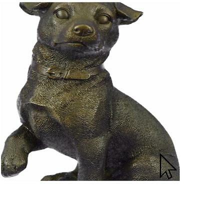 Large Playful Dachshunds Dog Breeder Bronze Sculpture Art Deco Figurine