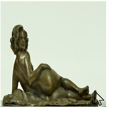 Handcrafted Real Lost Wax Bronze Sculpture Female Hot Cast Figurine Figure