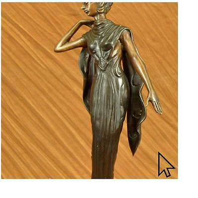 Deco Bronze Sculpture Nude Actress Dancer Jazz Club Italian Artist Figurine