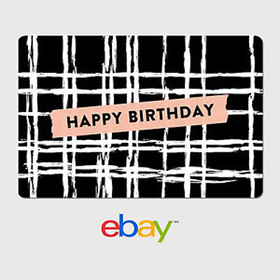 eBay Digital Gift Card - Happy Birthday Plaid -  Email delivery