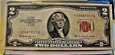 1953 $2.00 Red Seal Star Note & 1928 $2, $5, Red Seal Notes, Plus $1 Star