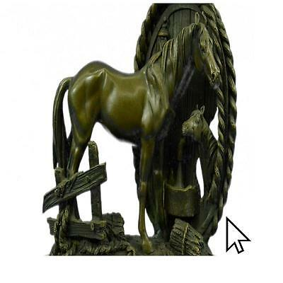 Handcrafted Equestrian Show Horse Equine Sculpture Ranch Art Bronze Statue