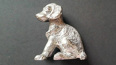 Hantel Silver Plate Dog Signed By FG More