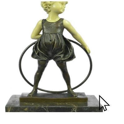 Signed Preiss Innocence Young Girl Bronze Bone Marble Sculpture Hot Cast