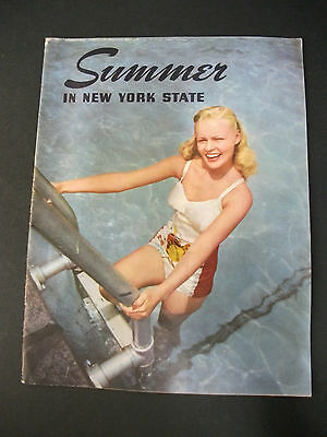 Vintage tourist magazine SUMMER IN NEW YORK STATE full color 1949
