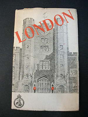 LONDON 1947 travel guide from The Travel Association of the UK with maps