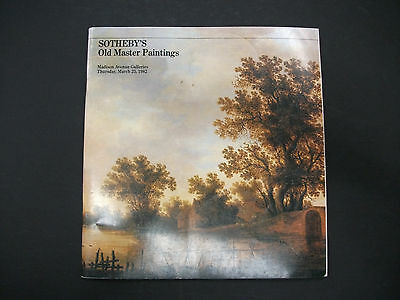 SOTHEBY'S Old Master Paintings March 25 1982 auction catalog