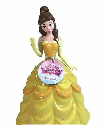 Disney Belle Beauty and The Beast Coin Piggy Bank Princess Authentic Licensed