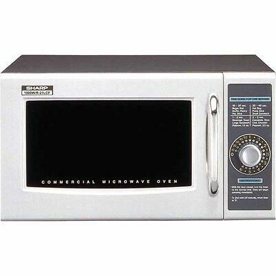 Sharp R-21-LCF - Commercial Microwave Oven, Medium Duty, 1000W, Gray, 20-1/2'W
