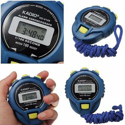Digital Handheld Stopwatch Sports Timer Alarm Counter with Extra Display Buttons