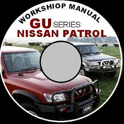 Nissan Patrol Gu  Australian Series Workshop Repair Service Manual Cd