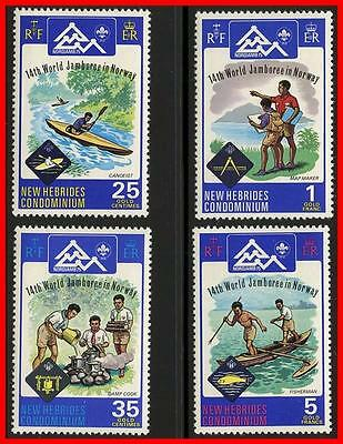 NEW HEBRIDES (BRIT) 1975 BOY SCOUTS MNH E-B2 do you understand words-BEST OFFER?