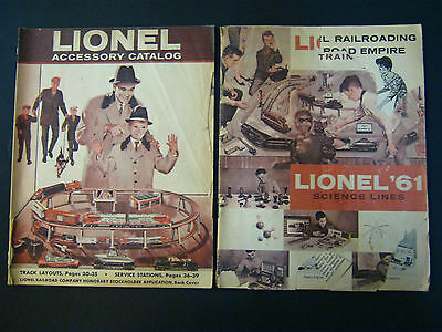 Lot of 2 LIONEL CATALOGS: 1960-1961 Accessory Catalogs & 1961-1962 Science Lines