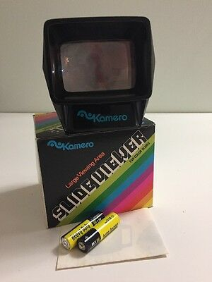 Kamero Slide View & Original Box Lighted for Color Slides Working New Batteries