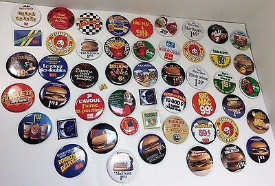 Lot Bundle 51 Vintage Mcdonalds Canadian button pinback badge pins advertising