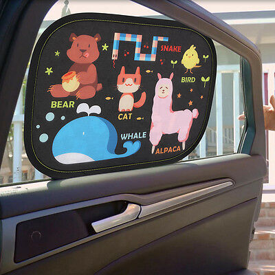 2pcs Static Baby Car Window Sun Shades Auto Sunshade Visor Appealing Cartoon