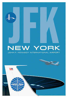 "Ja022 Jfk Worldport Airport Poster Art Print 14"" X 20"" By Artist Chris Bidlack"