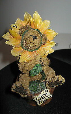 BOYD'S BEARS & FRIENDS #227769 Posey B Goodcheer Lookin' UP Get well sunflower