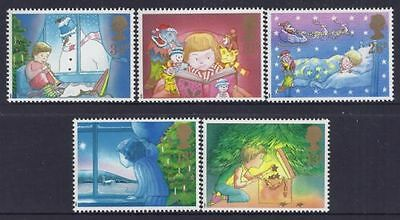 Mint 1987 Gb Christmas Xmas Stamp Set Of 5 Muh Stamps