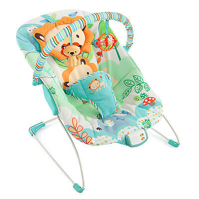 Bright Starts Playful Pals Bouncer Baby Infant Seat Music Vibrating