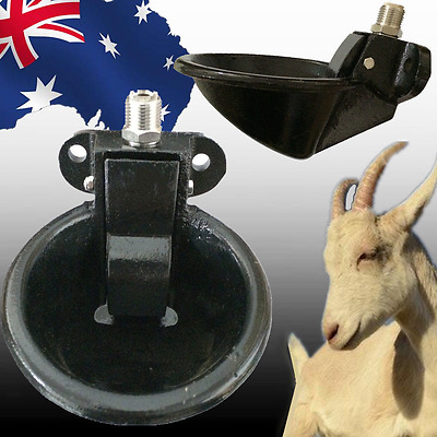 Water Trough Cast Iron Automatic Pressure Activated Feeder Pig Sheep PCRI49005