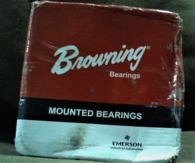 "Browning VF4S-224 Mounted Bearings, Set Screw 1 1/2""  *NEW* *FREE SHIPPING*"