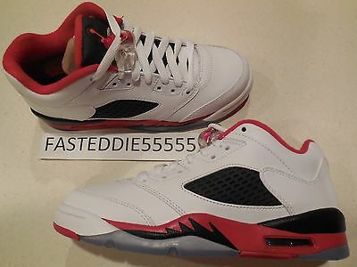 Youth Nike Air Jordan 5 Retro Low (GS) Shoes -Fire Red V-# 314338 101-Sz 5Y -NEW