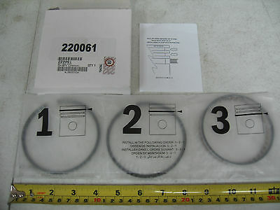 Piston Ring Set 0.010 PAI# 220061 for a Holset SS296 Ref# Cummins AR73351 AR4131